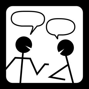 persone parlando